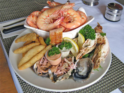Seafood Basket at the Bull and Barley Inn